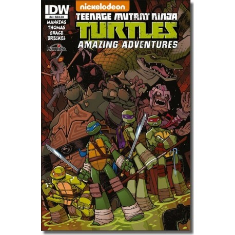 TEENAGE MUTANT NINJA TURTLES AMAZING ADVENTURES N° 4-A
