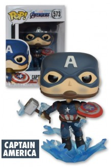 FUNKO POP MARVEL: ENDGAME - CAPTAIN AMERICA W/ BROKEN SHIELD & MJOIN
