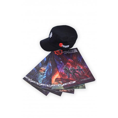 PAQUETE GEARS OF WARS HIVEBUSTERS GORRA-A